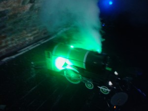Steam train in the Poetry Club Glasgow