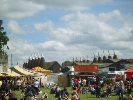 Oast houses Hop Farm Festival 2012