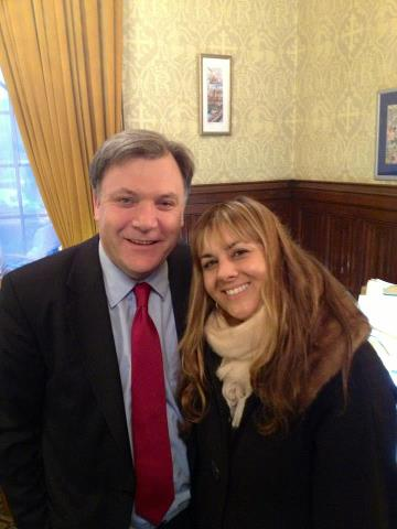 Rumer and Ed Balls