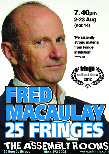 Fred Macaulay at the Edinburgh Fringe