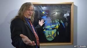 Andy Warhol self-portrait with Matt Wrbican