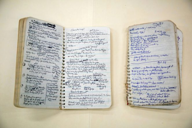 Bob Dylan Blood on the Tracks notebooks