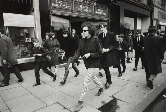 Bob Dylan on Princes Street Edinburgh 1966