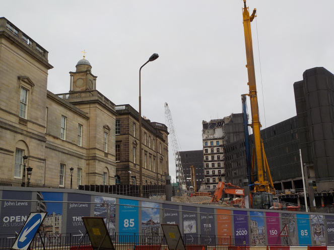 Demolition of St James Centre - the old HMV