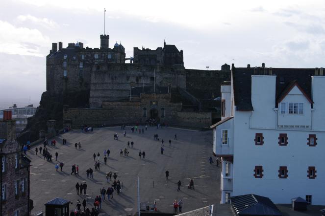 Edinburgh Castle Esplanade from the Camera Obscura