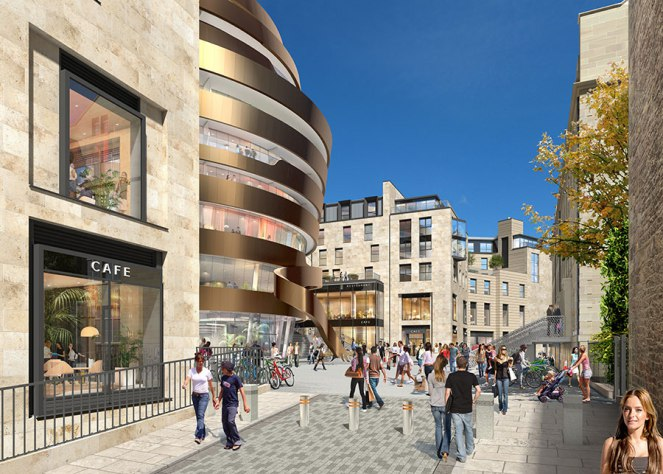 Edinburgh, the new St James Centre - artist's impression