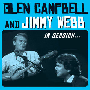 Glen Campbell and Jimmy Webb in session