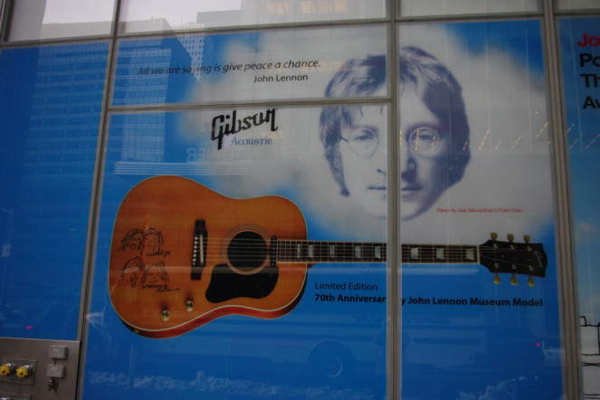 John Lennon Gibson Guitars New York