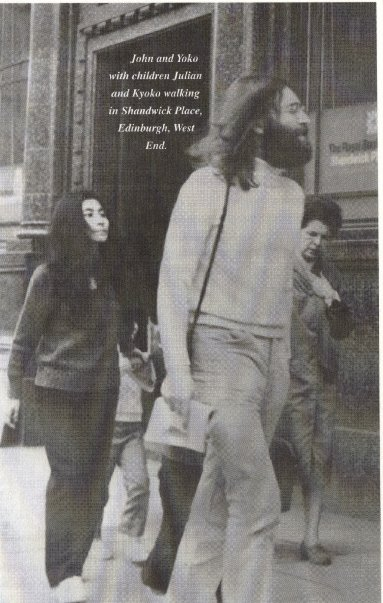 John Lennon in Shandwick Place Edinburgh