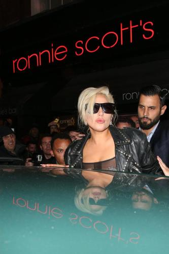 Lady Gaga leaving Ronnie Scott's Jazz Club