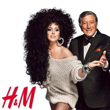 Lady Gaga Tony Bennett working for H&M