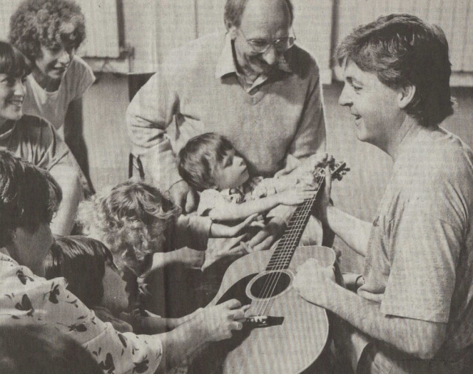 Paul McCartney with Clive Robbins