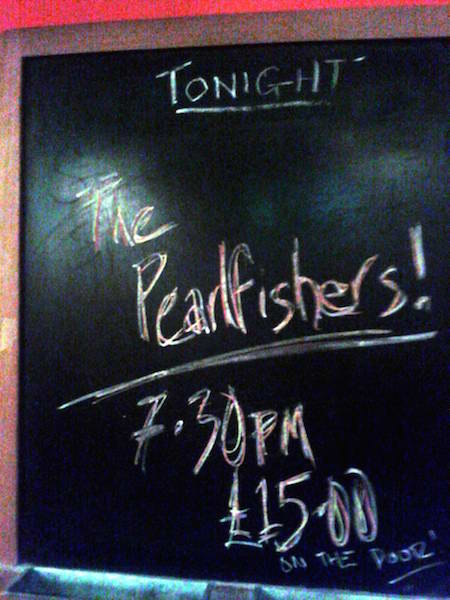 The Pearlfishers at Glad Cafe Glasgow