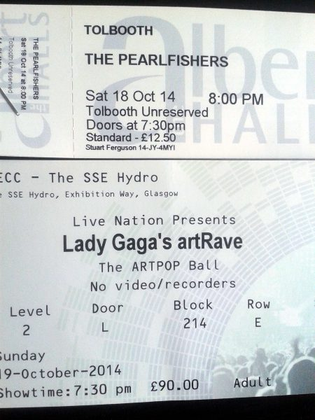 The Pearlfishers and Lady Gaga October 2014