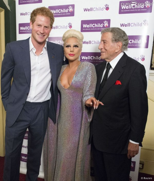 Prince Harry, Lady Gaga and Tony Bennett