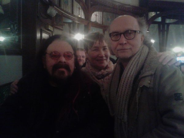 Roy Wood in the Griffin Bar Glasgow with Stuart Ferguson
