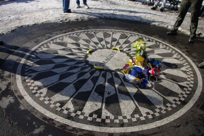 Strawberry Fields memorial New York John Lennon Imagine