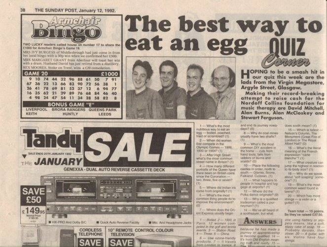 The Sunday Post Quiz - the best way to eat an egg