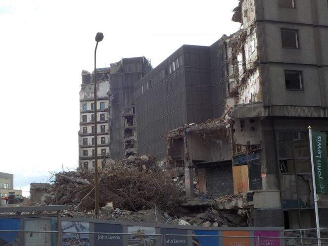 St James Centre demolition Edinburgh