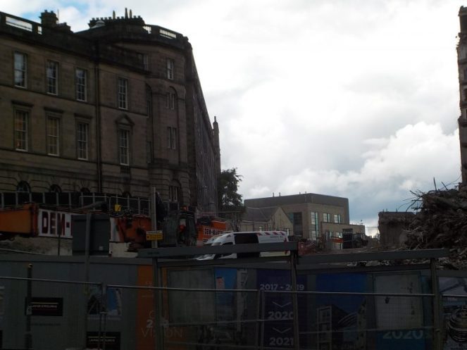 Demolition of St James Centre Edinburgh