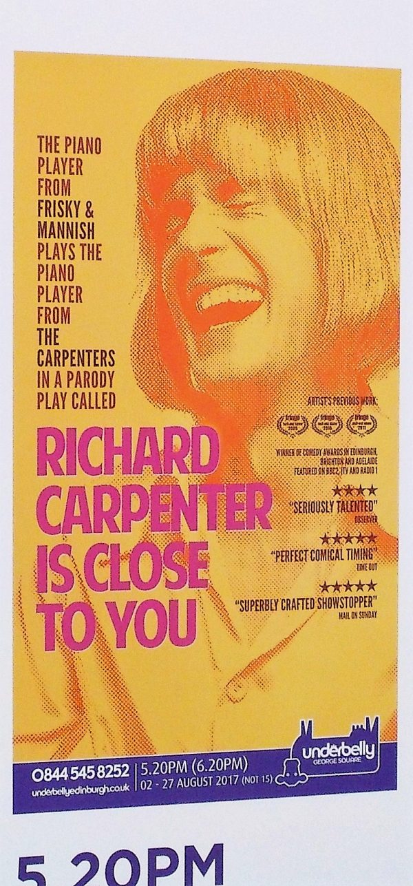 Richard Carpenter is close to you - Edinburgh Fringe 2017