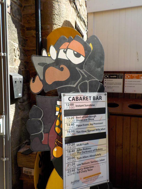 Cabaret bar - Edinburgh Festival 2017