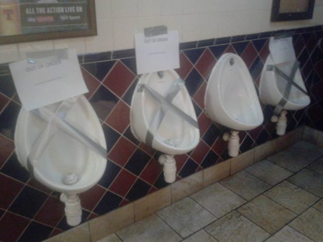 Edinburgh pub urinals