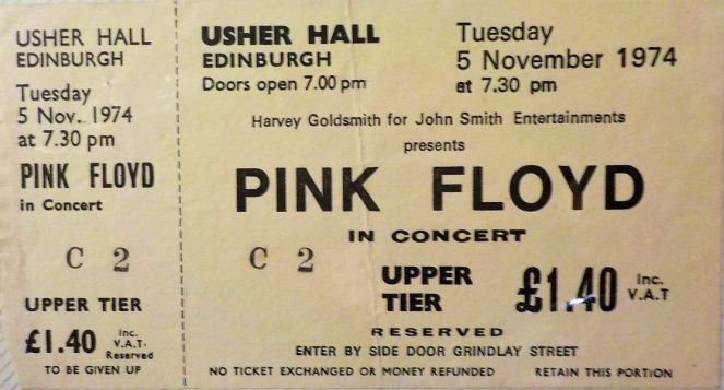 Pink Floyd Usher Hall Edinburgh