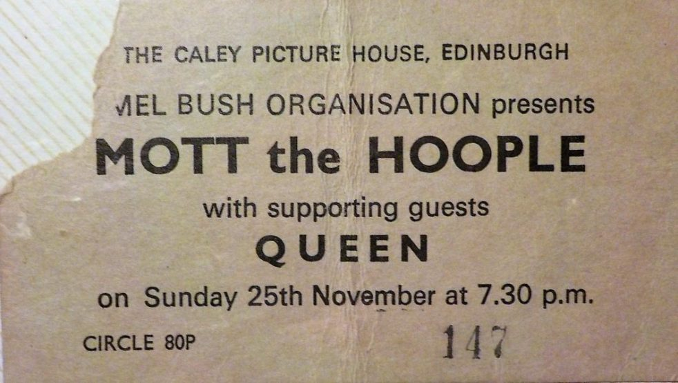 Mott the Hoople Queen Caley Picture House
